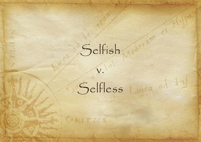 what is the opposite of selfless